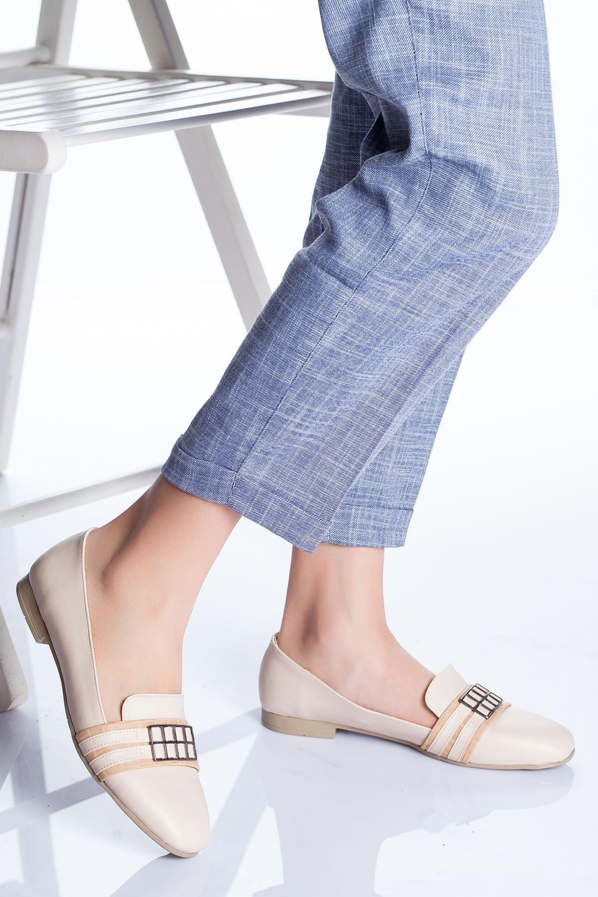 Galya Babet Ayakkabı KREM