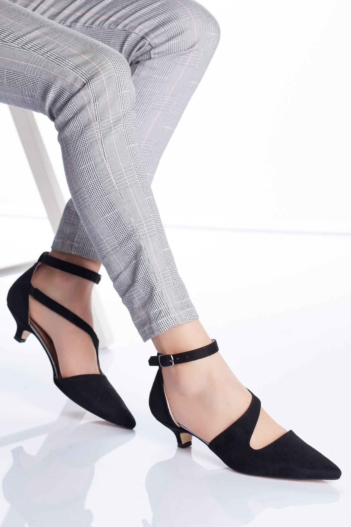 Costa Topuklu Ayakkabı SİYAH SÜET