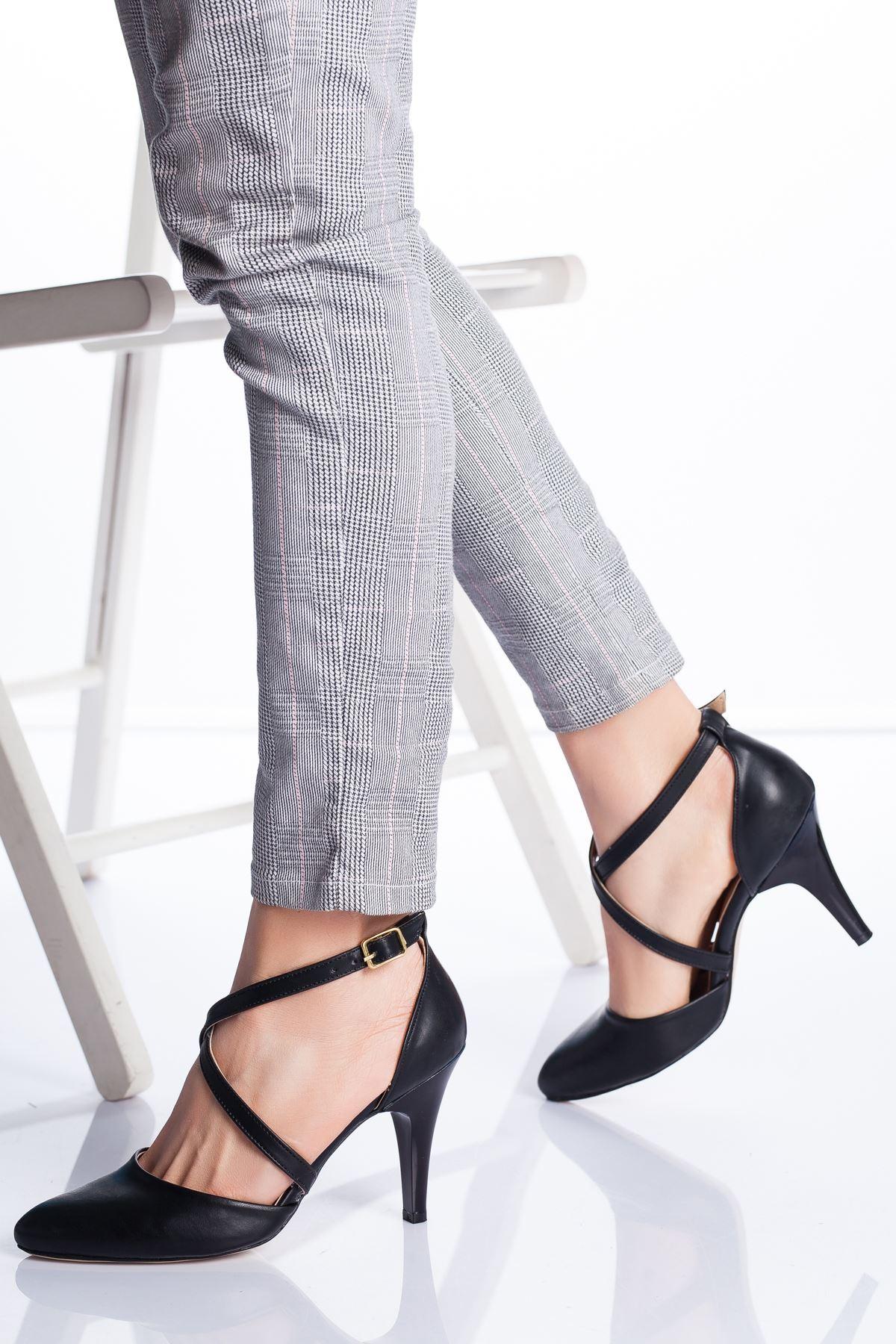 Gabel Topuklu Ayakkabı SİYAH CİLT