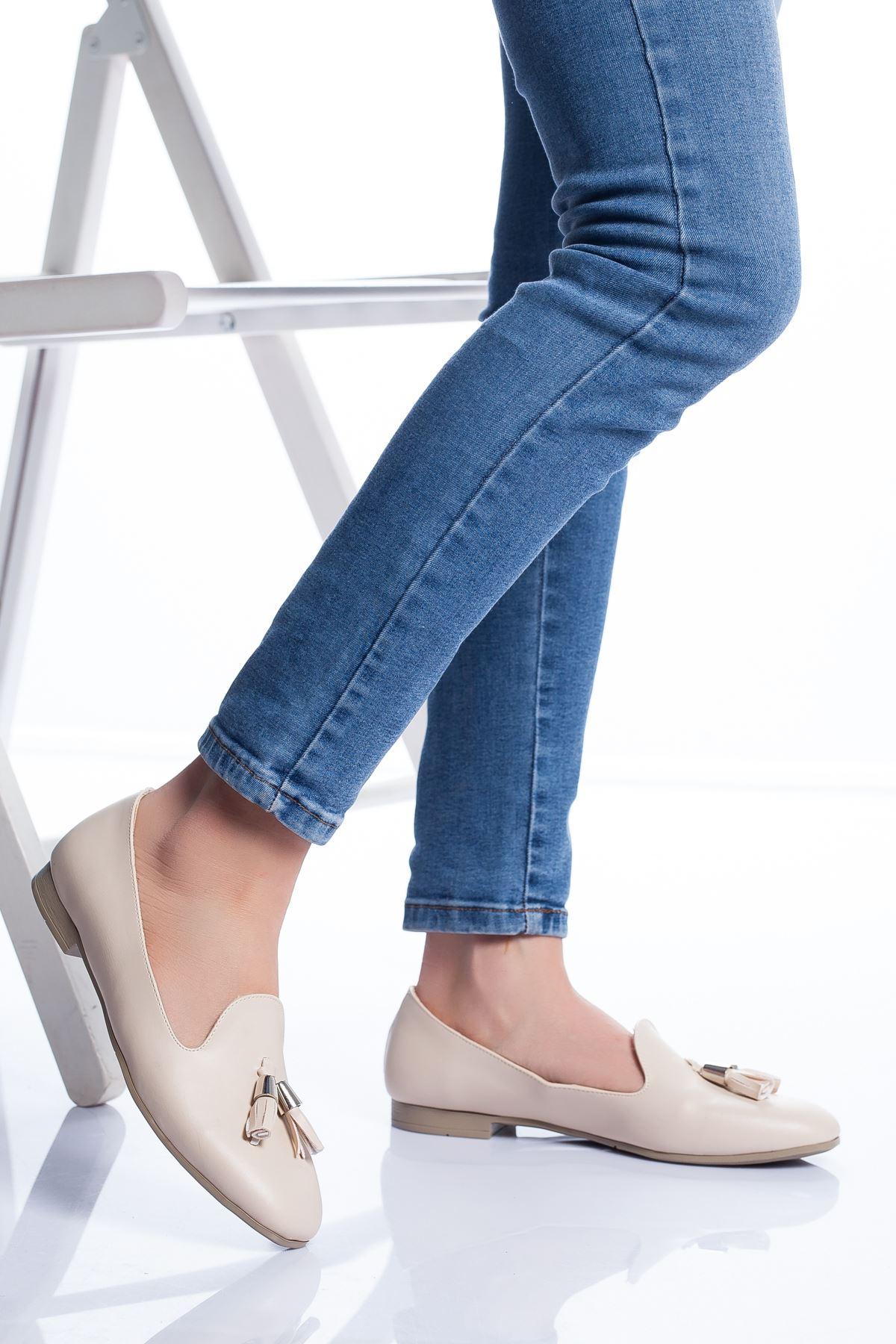 Kiya Babet Ayakkabı KREM