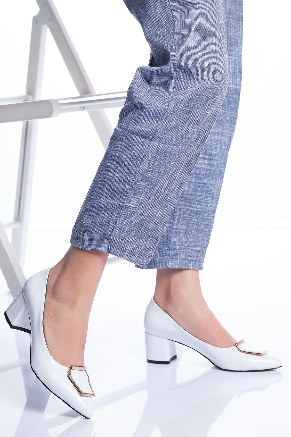 Della Topuklu Ayakkabı BEYAZ RUGAN