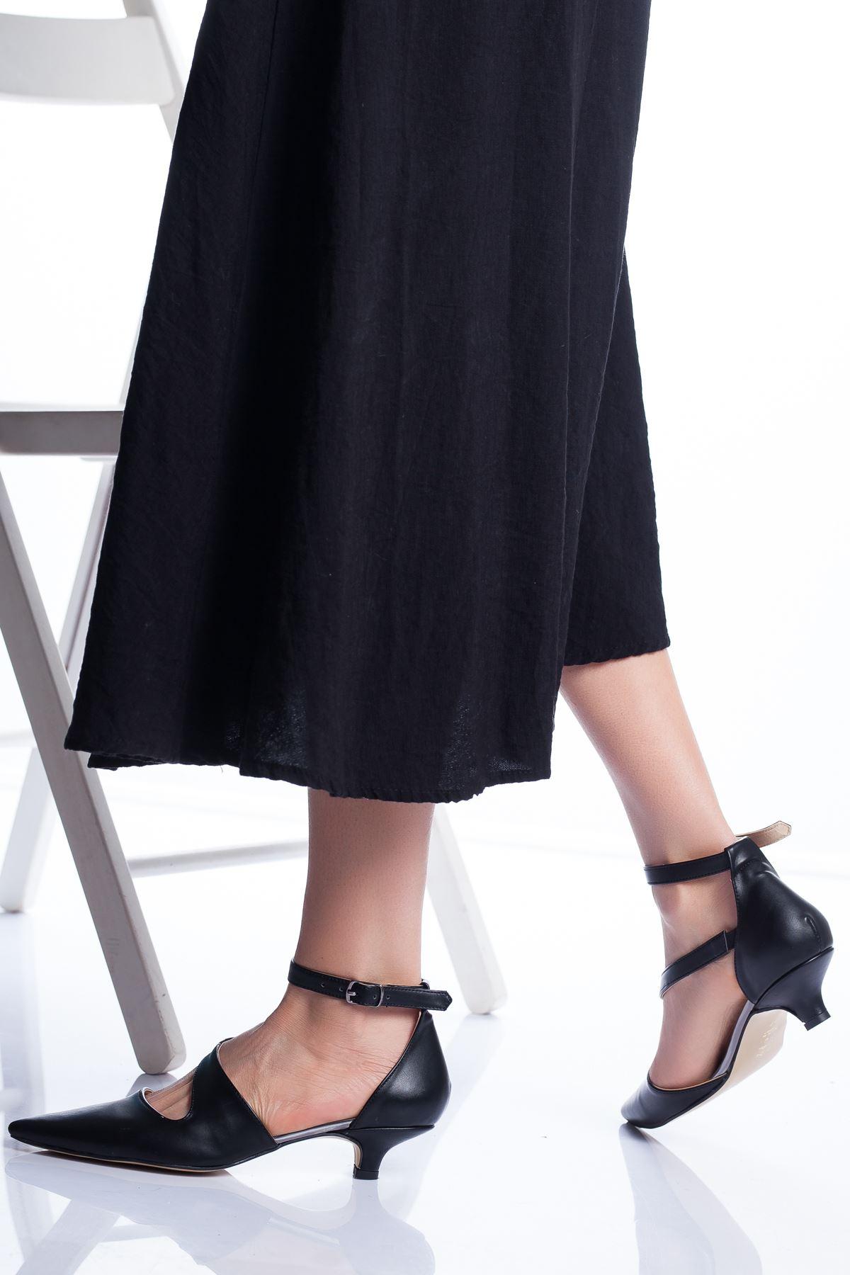 Costa Topuklu Ayakkabı SİYAH CİLT