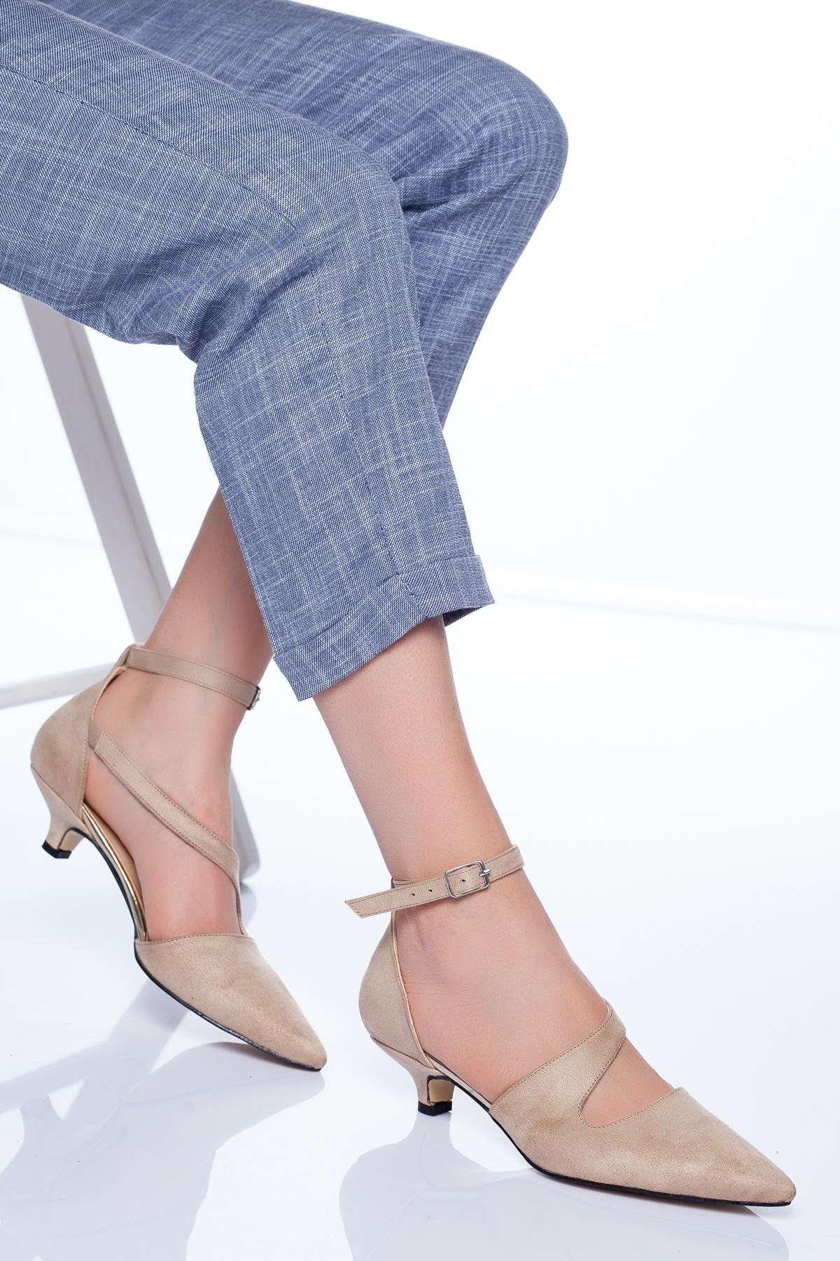 Costa Topuklu Ayakkabı TEN SÜET