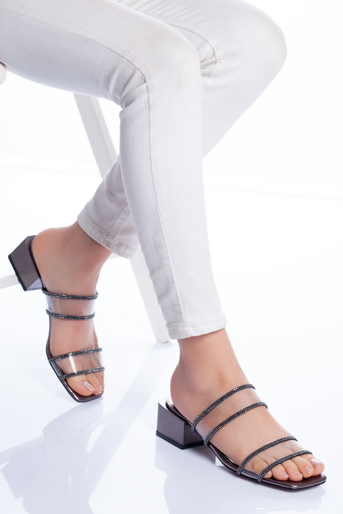Lodi Topuklu Ayakkabı PLATİN