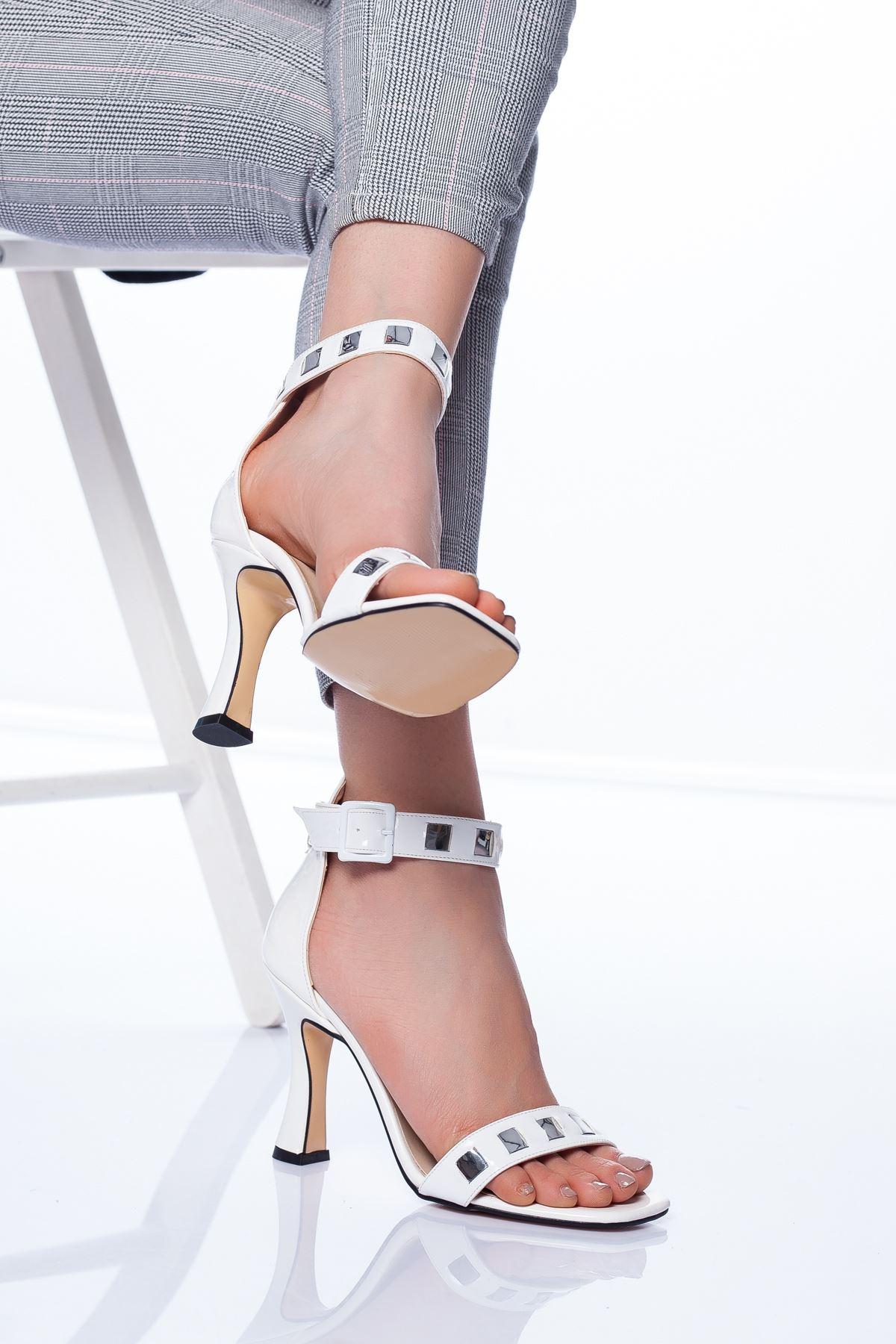 Hugo Topuklu Ayakkabı BEYAZ RUGAN