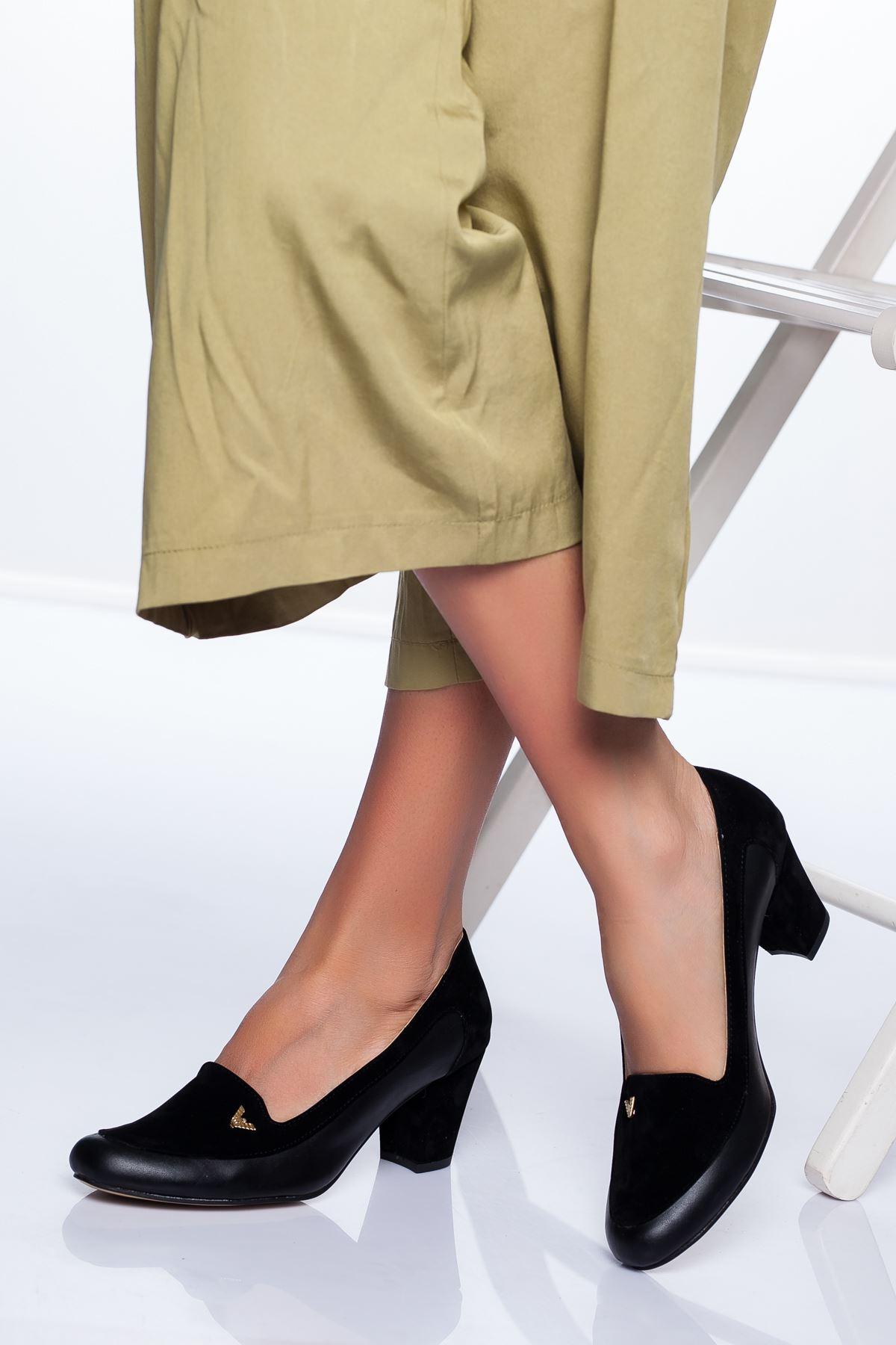 Maxx Topuklu Ayakkabı SİYAH CİLT