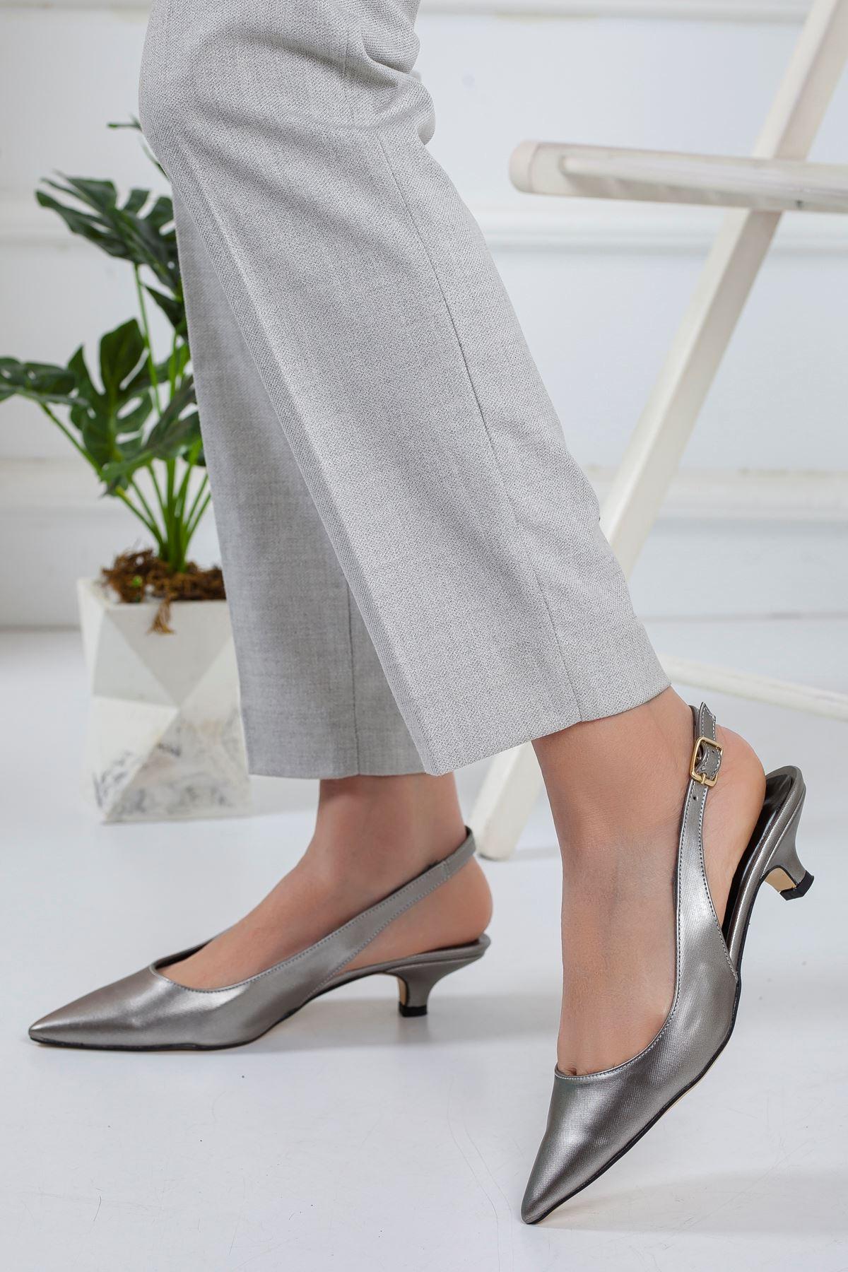 Mira Topuklu Ayakkabı PLATİN