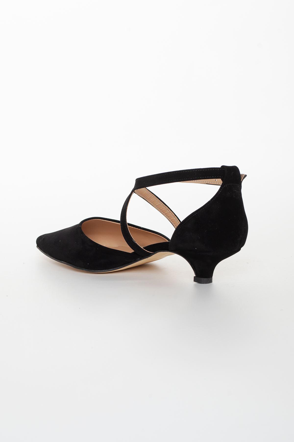 Noyan Topuklu Ayakkabı SİYAH SÜET